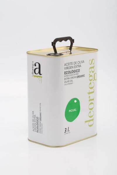 Picual Extra Virgin Bio Olivenöl, 3l Kanister